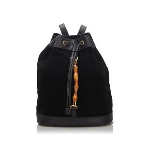 Vintage Gucci bamboo suede backpack